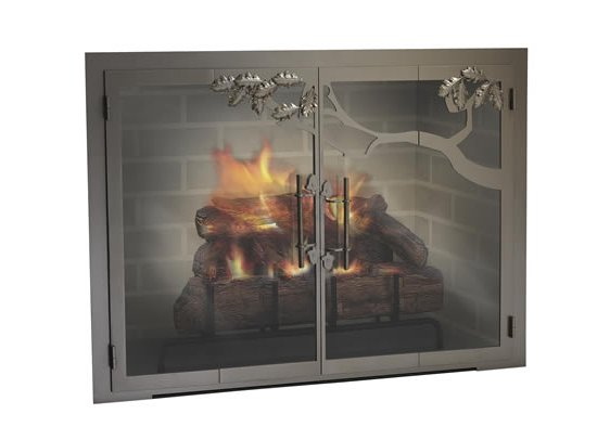 Fireplace doors spin
